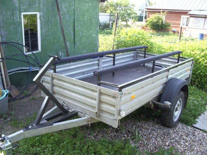 Как сделать прицеп для перевозки лодки