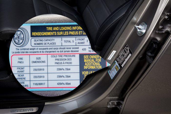 Давление в шинах автомобиля: таблица ходовых моделей