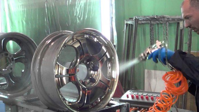 Порошковая покраска дисков своими руками: технология