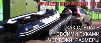Прицеп для лодки ПВХ
