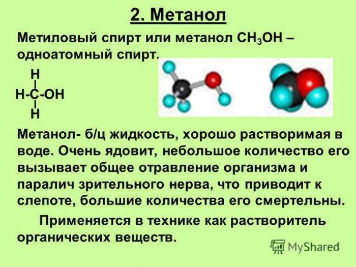 метанол омыватель
