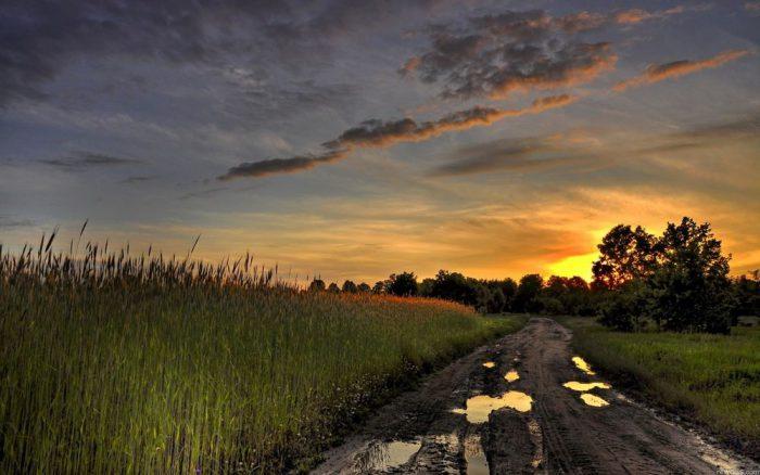 буксировка прицепа по проселочной дороге