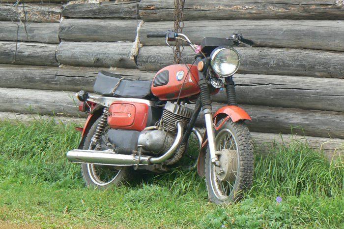 мотоцикл восход енот прицеп
