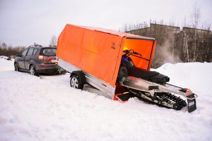прицеп экспедиция для снегохода