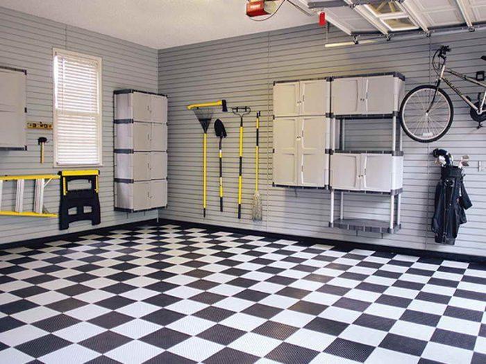 пол резиновый в гараже