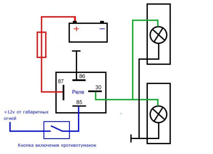 схема дхо 4 контактное реле