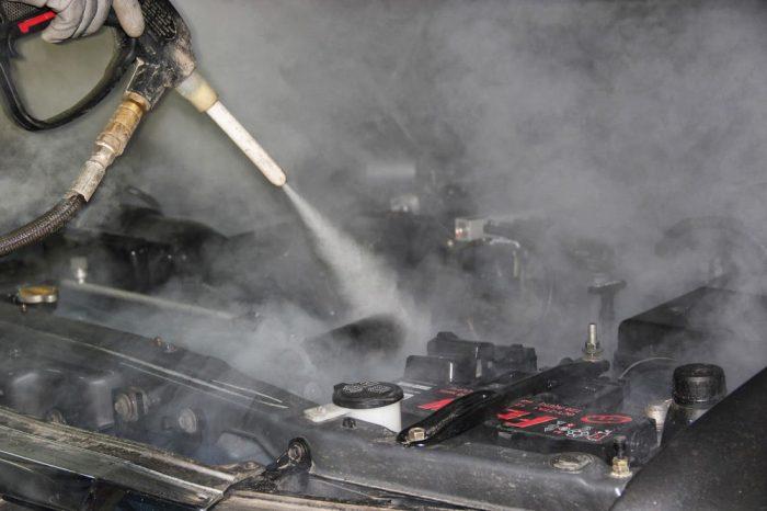 паром помыть двигатель