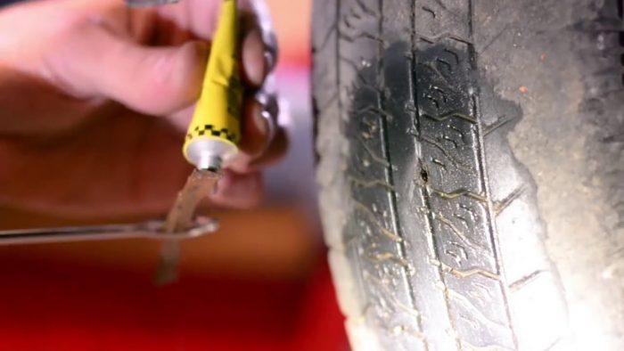 ремонт шины бескамерной набор