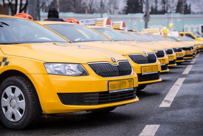 такси цвет номер