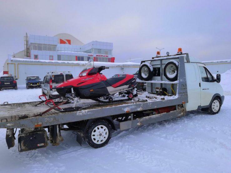 как перевозить снегоход