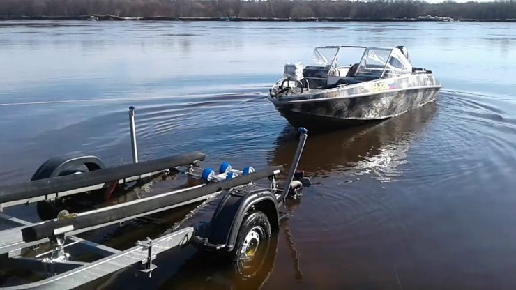 подъем спуск лодки
