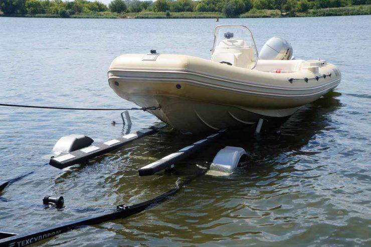 спуск лодки