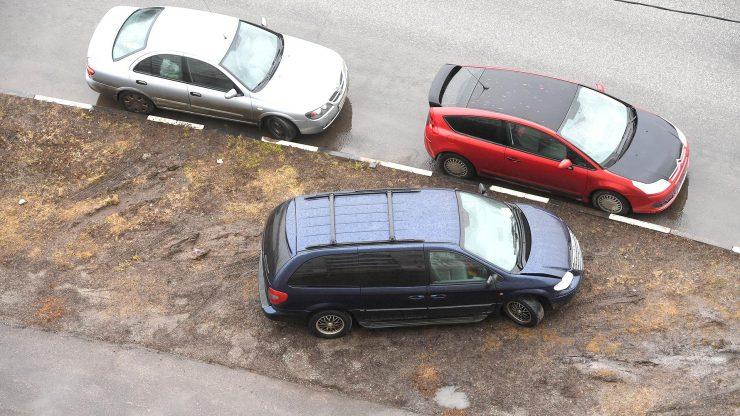 газон авто парковка