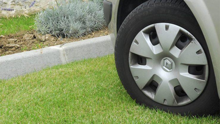 газон парковка