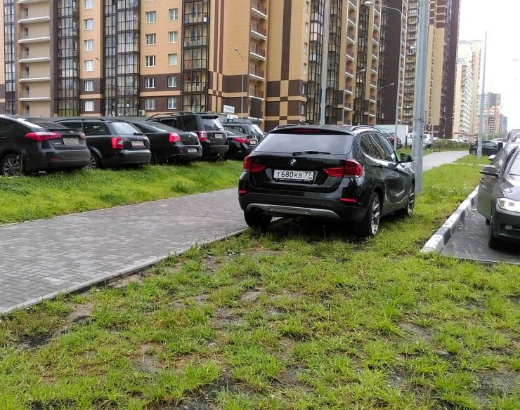 газон парковка штраф