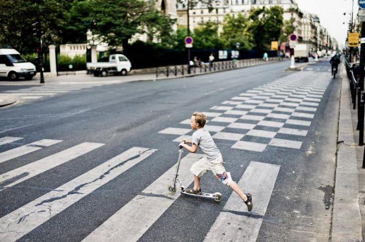 пешеход обгон