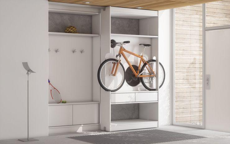 велосипед шкаф
