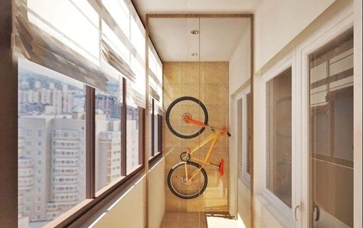 на балконе велосипед