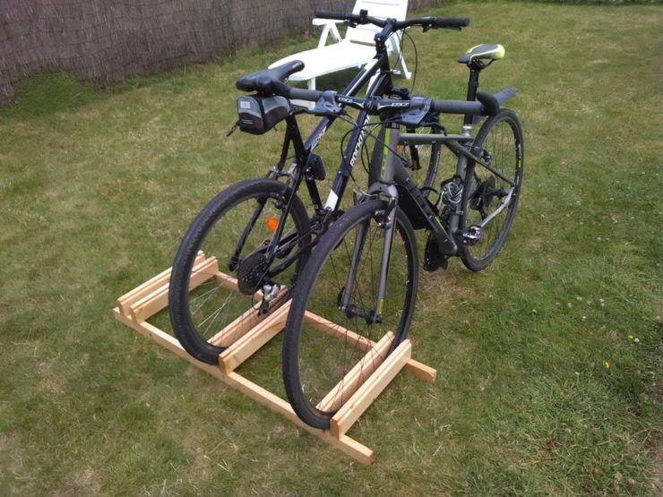подставка деревянная велосипед