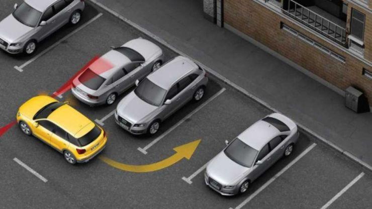 выезд парковка